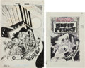 Original Comic Art:Covers, Joe Simon, Jerry Grandenetti, and Creig Flessel UnpublishedFirst Issue Special #10 Outsiders Cover Original Art G...(Total: 2 Items)