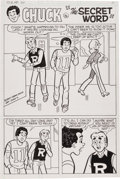 Original Comic Art:Panel Pages, Stan Goldberg Pep Comics #380 Page 1 Original Art (Archie, 1981)....