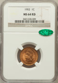 Indian Cents: , 1902 1C MS64 Red NGC. CAC. NGC Census: (288/450). PCGS Population(270/188). Mintage: 87,376,720. Numismedia Wsl. Price for...