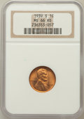 Lincoln Cents: , 1939-S 1C MS66 Red NGC. NGC Census: (3326/1744). PCGS Population(2608/296). Mintage: 52,070,000. Numismedia Wsl. Price for...