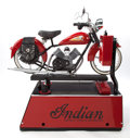 "General Americana, COIN OPERATED ""INDIAN MOTORCYCLE"" RIDE . 20th century. 53 x 28 x 54inches (134.6 x 71.1 x 137.2 cm). ..."