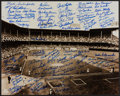 Baseball Collectibles:Photos, Brooklyn Dodgers Multi Signed Oversized Photograph With Over 90Signatures. ...