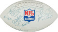 Football Collectibles:Balls, Football Greats and Others Multi Signed Football....