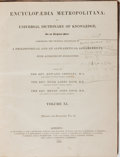 Books:Reference & Bibliography, Edward Smedley, et al. [editors]. Encyclopaedia Metropolitana;or, Universal Dictionary of Knowledge. Volume XI....