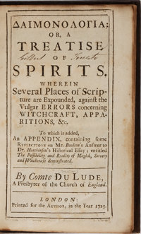 Jacques de Daillon. Daimonologia: or, a Treatise of Spirits. London: Printed for the author, 17