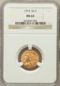 Indian Quarter Eagles, 1915 $2 1/2 MS63 NGC....