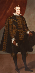Fine Art - Painting, European:Antique  (Pre 1900), MONOGRAMMIST WS (Early 20th Century), After DIEGO VELÁZQUEZ(Spanish, 1599-1660). Philip IV, King of Spain. Oil oncanva...