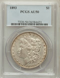 Morgan Dollars: , 1893 $1 AU50 PCGS. PCGS Population (296/4212). NGC Census:(229/2772). Mintage: 389,792. Numismedia Wsl. Price for problem ...