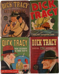 Big Little Book:Miscellaneous, Big Little Book Dick Tracy Group (Whitman, 1930s-40s) Condition:Average VG+.... (Total: 4 Comic Books)
