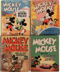 Big Little Book:Miscellaneous, Big Little Book Mickey Mouse Group (Whitman, 1930s-40s) Condition:Average FN+.... (Total: 4 Comic Books)