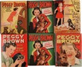 Big Little Book:Miscellaneous, Big Little Book Peggy Brown Group (Whitman, 1940s) Condition:Average VF-.... (Total: 6 Comic Books)