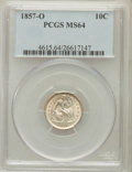 Seated Dimes, 1857-O 10C MS64 PCGS. Fortin-102....