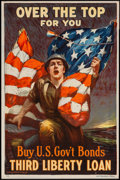 """Movie Posters:War, World War I Propaganda (Ketterlinus, Phil., US Govt, 1918). Poster(20"""" X 30"""") """"Over the Top, For You."""" War.. ..."""