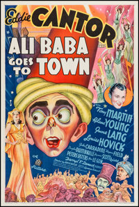 "Ali Baba Goes to Town (20th Century Fox, 1937). One Sheet (27"" X 41""). Comedy"