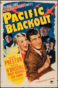 """Pacific Blackout (Paramount, 1941). One Sheet (27"""" X 41""""). Mystery"""
