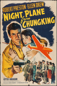 "Night Plane from Chungking (Paramount, 1943). One Sheet (27"" X 41""). War"