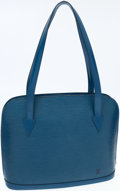 Luxury Accessories:Bags, Louis Vuitton Blue Epi Leather Lussac Tote Bag. ...