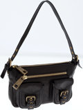 Luxury Accessories:Bags, Marc Jacobs Black Leather Shoulder Bag. ...