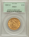 Liberty Eagles: , 1897-O $10 MS61 PCGS. PCGS Population (44/87). NGC Census: (89/65).Mintage: 42,500. Numismedia Wsl. Price for problem free...