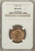 1928-S 25C MS65 Full Head NGC. NGC Census: (110/152). PCGS Population: (139/146). CDN: $750 Whsle. Bid for NGC/PCGS MS65...