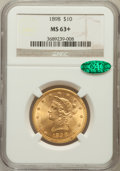 Liberty Eagles: , 1898 $10 MS63+ NGC. CAC. NGC Census: (337/163). PCGS Population (213/71). Mintage: 812,197. Numismedia Wsl. Price for probl...