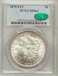Morgan Dollars: , 1878 8TF $1 MS64 PCGS. CAC. PCGS Population (2363/517). NGC Census:(1950/375). Mintage: 699,300. Numismedia Wsl. Price for...