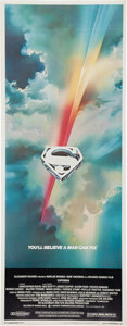 Memorabilia:Movie-Related, Superman the Movie Rolled Insert (Warner Brothers, 1978)....