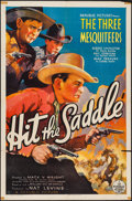 """Movie Posters:Western, Hit the Saddle (Republic, 1937). One Sheet (27"""" X 41""""). Western.. ..."""