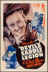 "The Devil's Saddle Legion (Warner Brothers, 1937). One Sheet (27"" X 41""). Western"
