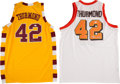 Basketball Collectibles:Uniforms, Nate Thurmond Signed Throwback Jerseys Lot of 2....