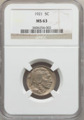 Buffalo Nickels: , 1921 5C MS63 NGC. NGC Census: (103/410). PCGS Population (142/739).Mintage: 10,663,000. Numismedia Wsl. Price for problem ...