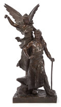 Paintings, A BRONZE ALLEGORICAL GROUP OF LABOR AFTER CHARLES LEVASSEUR (French, 1734-1816) . 20th century. 33 inches high x 15 inches ...