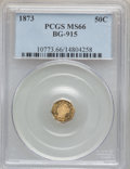 California Fractional Gold, 1873 50C Liberty Octagonal 50 Cents, BG-915, Low R.4, MS66 PCGS....
