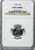 Proof Roosevelt Dimes: , 1954 10C PR69 Cameo NGC. NGC Census: (14/0). PCGS Population (1/0).Numismedia Wsl. Price for problem free NGC/PCGS coin i...