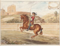 Decorative Prints, European:Prints, A SET OF FOUR FRAMED HAND COLORED ENGRAVINGS OF EQUESTRIAN SCENESBY NEWCASTLE . Circa 1705. 16 x 20-1/2 inches (40.6 x 52.1...(Total: 4 Items)