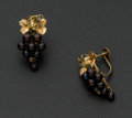 Estate Jewelry:Earrings, Akoya Pearl Grape Gold Earrings. ...