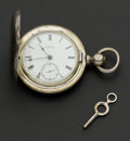 Timepieces:Pocket (pre 1900) , Waltham 18 Size Sterling Silver Hunter's Case Pocket Watch. ...