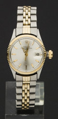 Timepieces:Wristwatch, Rolex Lady's Two Tone, circa 1960. ...