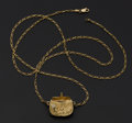 Estate Jewelry:Pendants and Lockets, Charming Gold Purse Pendant & Chain. ...