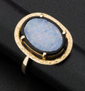Estate Jewelry:Rings, Art Deco Opal & Onyx Gold Ring. ...