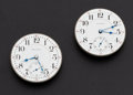 Timepieces:Other , Two Waltham 23 Jewel Model 92 - 18 Size Vanguard Movements. ...(Total: 2 Items)