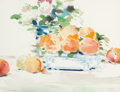 Works on Paper, ANDRÉ GISSON (French/American, 1921-2003). Peaches. Watercolor on paper laid on board. 10 x 13 inches (25.4 x 33.0 cm). ...