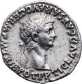 Ancients:Roman Imperial, Ancients: Claudius (AD 41-54) with Agrippina Jr. (died AD 58). AR denarius (19mm, 3.61 gm, 6h). ...