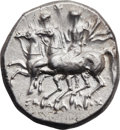 Ancients:Greek, Ancients: Tarentum. Ca. 280-272 BC. AR stater or nomos (21mm, 6.56gm, 2h). ...