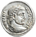 Ancients:Roman Imperial, Ancients: Maximinus II Daia as Caesar (AD 305-309). AR argenteus(19.5mm, 3.45 gm, 12h). ...