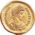 Ancients:Roman Imperial, Ancients: Valentinian II (AD 375-395). AV solidus (21mm, 4.44 gm,6h). ...