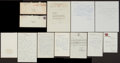 Baseball Collectibles:Others, Baseball Greats Signed Letters Lot of 10. ...