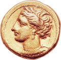 Ancients:Greek, Ancients: Carthage. Ca. 290-270 BC. EL stater (19mm, 7.73 gm,12h). ...