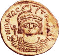 Ancients:Byzantine, Ancients: Maurice Tiberius (AD 582-602). AV solidus (22mm, 4.44 gm,6h)....