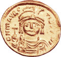 Ancients:Byzantine, Ancients: Maurice Tiberius (AD 582-602). AV solidus (21mm, 4.45 gm,6h)....